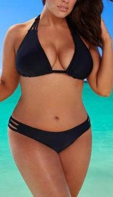 Hot Plus Size L-4XL Bikini Set Low Waist Push Up Swimsuit