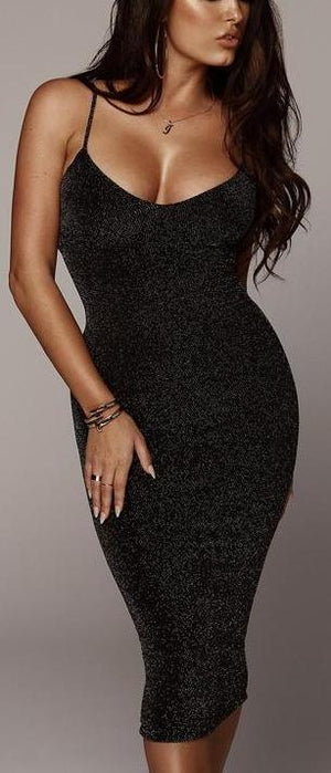 Sleeveless Spaghetti Straps Bodycon Wrap Sundress
