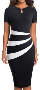 Vintage Optical Illusion Business Bodycon Dress