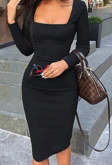 Elegant Business Pencil Lady Dress