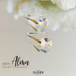 Aros Alma Cristal Genuino - Gloss Crystal