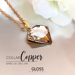 Collar Copper Cristales de Swarovski® - Gloss Crystal
