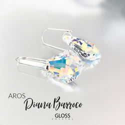 Aros Diana Barroco Cristal Genuino - Gloss Crystal