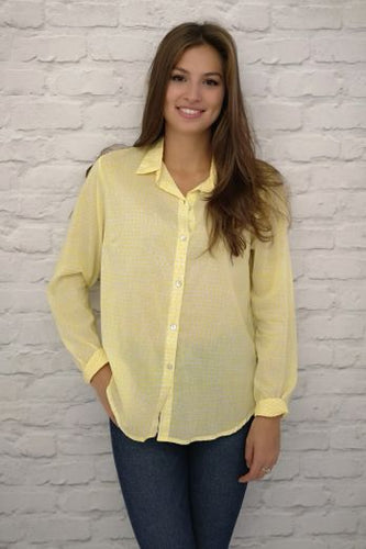 Luella Pure Cotton Antigua Shirt Yellow