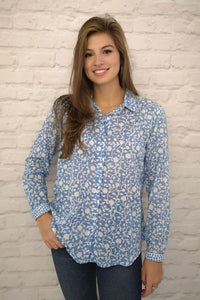 Luella Nevis Pure Cotton Shirt Pale Blue