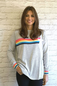 Luella Cashmere Mia Star/Rainbow Jumper Grey/Multi
