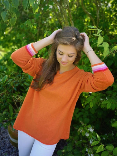 Luella Sofia Stripe Jumper Orange/Pink