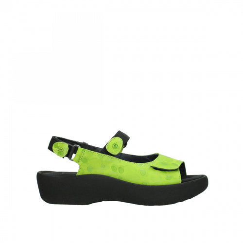 Wolky Jewel Circles Lime Women's Sandal