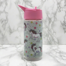 Kids Back To School Patterned Water Bottle