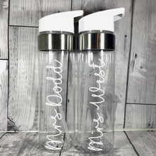 Personalised White/Clear 750ml Adult Water Straw Bottle - LIMITED STOCK - Bottles - Molly Dolly Crafts