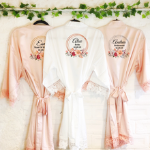Circular Floral Personalised Bride Lace Wedding Dressing Robe -  - Molly Dolly Crafts