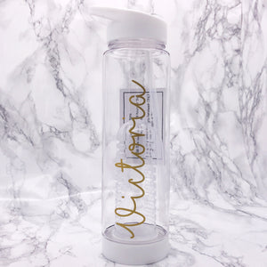 Personalised 750ml White Adult Fruit Infuser Water Bottle