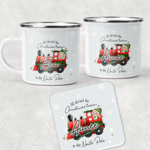 All Aboard the Christmas Train Personalised Camping Mug & Coaster Christmas Hot Chocolate