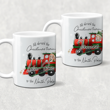 All Aboard the Christmas Train Personalised Christmas Eve Mug and Coaster Set