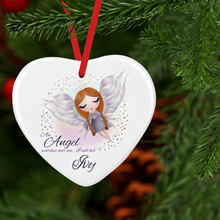 An Angel Watches Over Me Ceramic Memorial Christmas Bauble