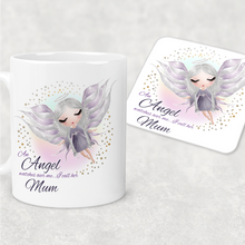 Guardian Angel Watches Over Me Personalised Mug and Coaster Set