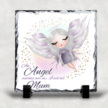 An Angel Watches Over Me Personalised Christmas Slate