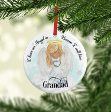 I Have an Angel in Heaven Ceramic Round or Heart Shaped Memorial Christmas Bauble