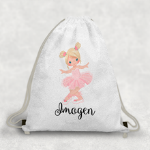 Ballet Personalised Mermaid Sequin PE School Bag -  - Molly Dolly Crafts