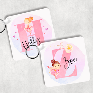 Ballet Alphabet Personalised Keyring Bag Tag