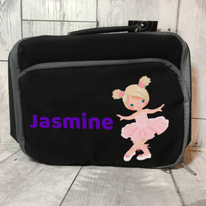 Ballet Insulated Personalised Lunch Bag Back to School -  - Molly Dolly Crafts