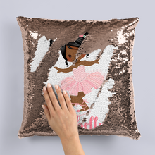 Ballet Personalised Mermaid Sequin Cushion -  - Molly Dolly Crafts