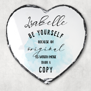 Be Yourself Motivational Quote Personalised Slate
