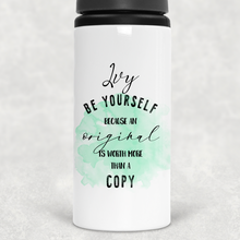 Be Yourself Personalised Straw Water Bottle 650ml