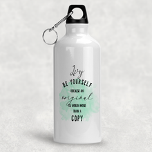 Be Yourself Worth More Than A Copy Personalised Aluminium Water Bottle 400/600ml