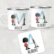 Beefeater Soldier Alphabet Personalised Camping Mug and Coaster Set