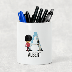 Beefeater Soldier Alphabet Watercolour Pencil Caddy / Make Up Brush Holder