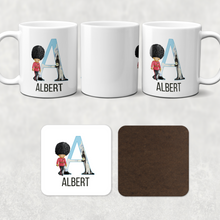 Beefeater Soldier Alphabet Personalised Watercolour Mug