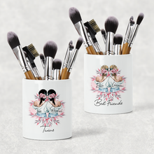 Best Friends/Sisters Personalised Pencil Caddy / Make Up Brush Holder