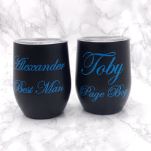 Personalised Wedding Role 400ml Stemless Wine Tumbler