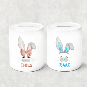 Bunny Face Personalised Money Savings Pot