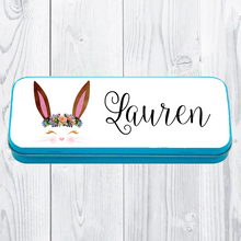 Personalised Printed Bunny School Pencil Tin