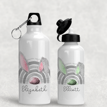 Bunnybow Hoppy Easter Bunny Rabbit Personalised Aluminium Water Bottle 400/600ml