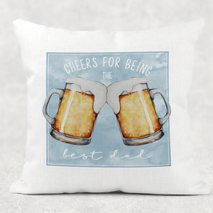 Cheers for Being the Best Dad Father's Day Gift Cushion