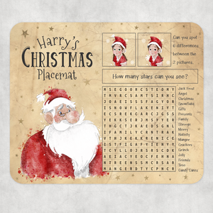 Kids Christmas Activity Dinner Placemat