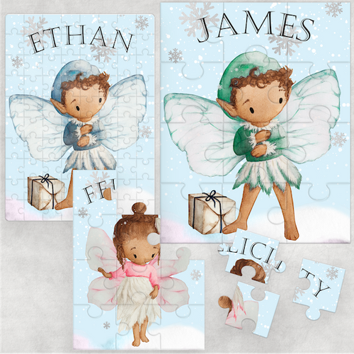 Christmas Fairy Personalised Jigsaw Various Sizes & Pieces