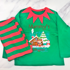 Christmas Little Helper Elf Pyjamas