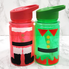 Santa or Elf Style Kids Christmas Water Bottle - Christmas - Molly Dolly Crafts