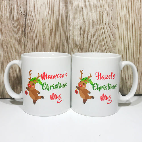 Personalised Rudolph Christmas Mug Version 2