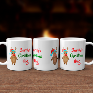 Personalised Rudolph Christmas Mug Version 1