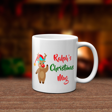 Personalised Rudolph Christmas Mug Version 3 - Mug - Molly Dolly Crafts
