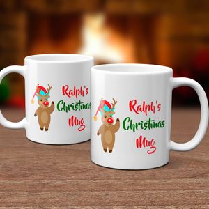 Personalised Rudolph Christmas Mug Version 3