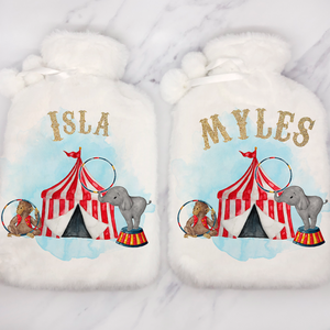 Circus Personalised Hot Water Bottle