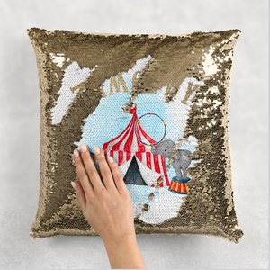 Circus Personalised Mermaid Sequin Cushion