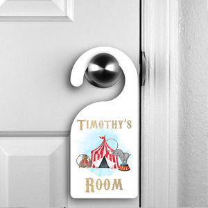 Personalised Circus Room Door Hanger