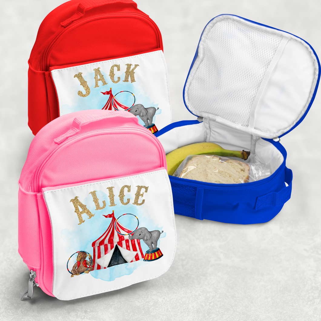 Circus Personalised Kids Insulated Lunch Bag